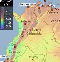 Mapa Solar Colombia